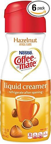 Coffee-mate Liquid Creamer, Hazelnut, 16 oz., 6 Count