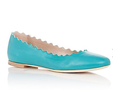 CHLOÉ Lauren Scalloped Flats