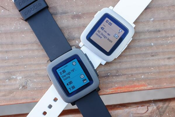 Pebble Time Smartwatch 38mm Polycarbonate