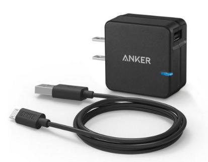 Anker 18W USB Wall Charger with Qualcomm Quick Charge 2.0 Technology
