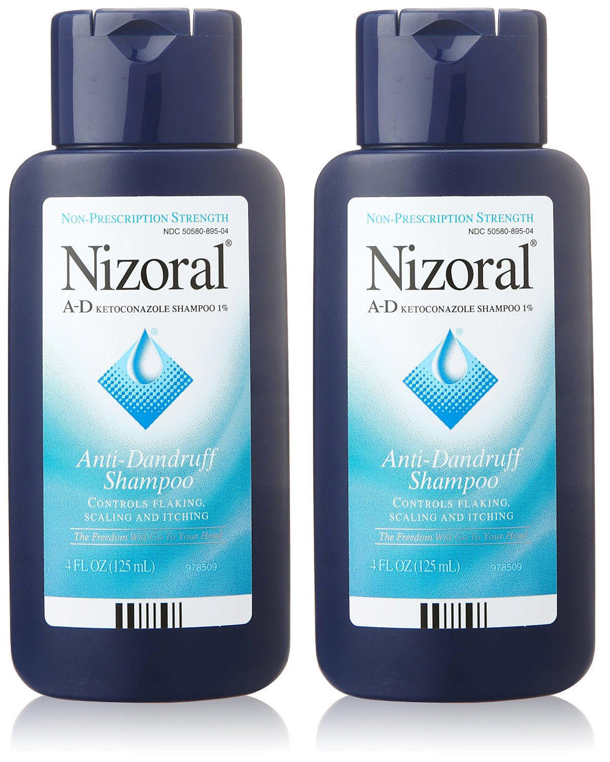 $8.5 2 Pk Nizoral AD Ketoconazole Non-Prescription Strength Anti-Dandruff Shampoo 4oz