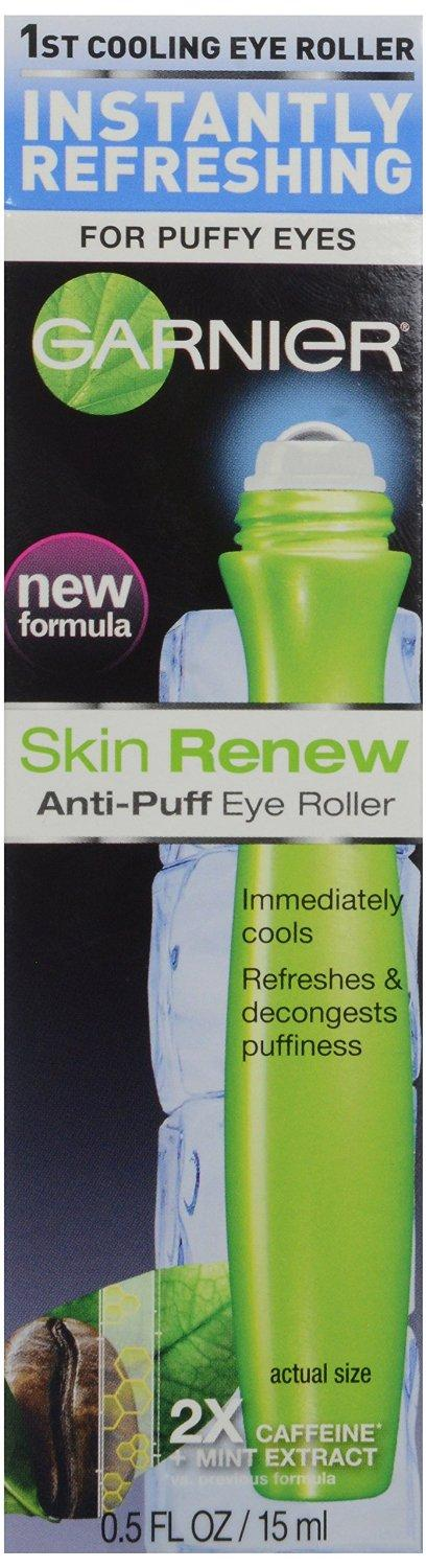 Garnier Skin Renew Anti-Puff Eye Roller, 0.50 Fluid Ounce