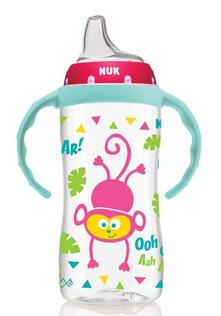 NUK Jungle Designs Large Learner Cup in Girl Patterns, 10-Ounce