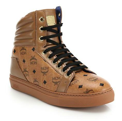 MCM Logo High-Top Sneakers