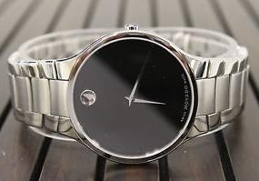 Movado Serio Black Dial Men's Watch 0606382