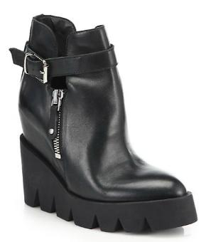 Ash Ricky Leather Platform Ankle Boots