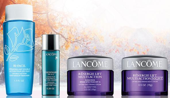 Free 4 Deluxe Skincare and Beauty Products With Any $49 Purchase @ Lancome