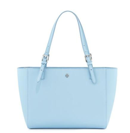 Tory Burch York Saffiano Leather Tote Bag, Fairview Blue @ Neiman Marcus