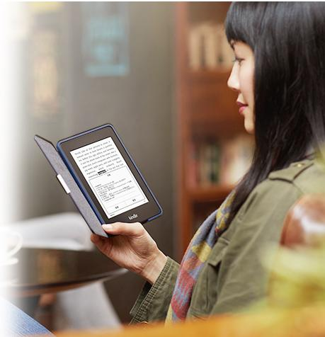 "$169.99 Kindle Voyage, 6"" High-Resolution Display (300 ppi) with Adaptive Built-in Light"