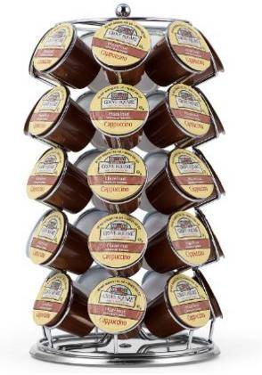 Oak Leaf Coffee Storage Carousel for K-Cup (35 Pods)