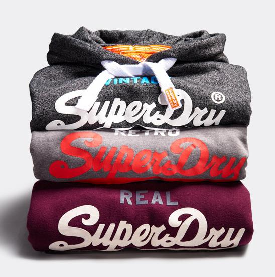 25% Off Men's and Women's Hoodies at Superdry