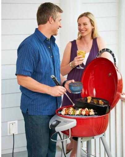 $86.40 Char-Broil TRU Infrared Patio Bistro Electric Grill, Red