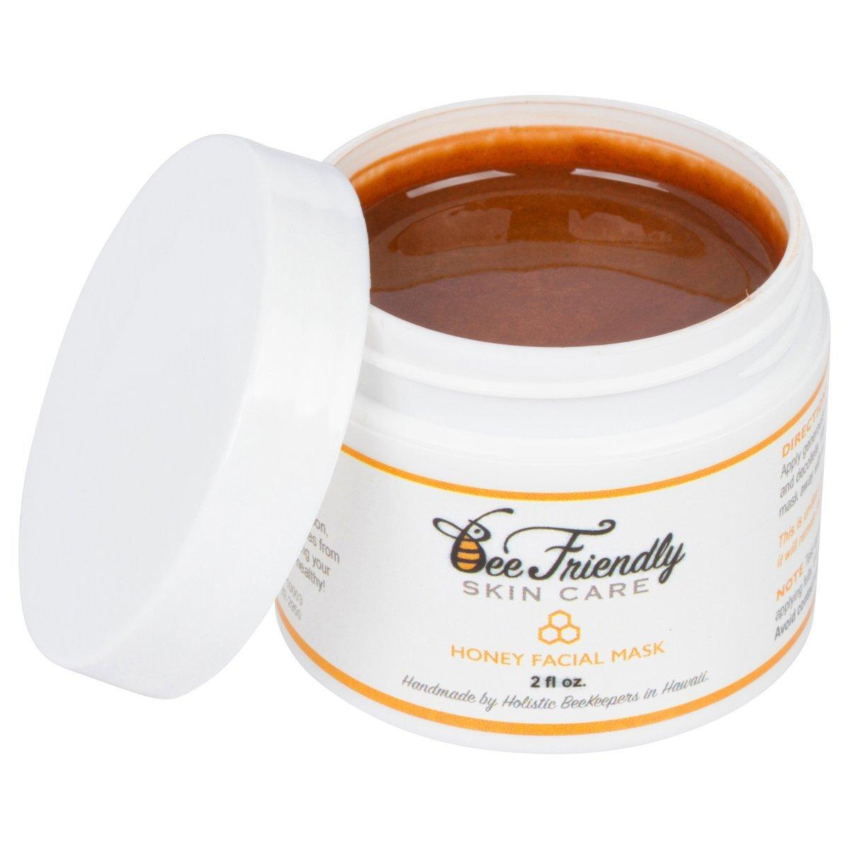 Honey Facial Mask 100% All Natural Raw Honey, French Pink Clay Revitalizing Face Mask by BeeFriendly