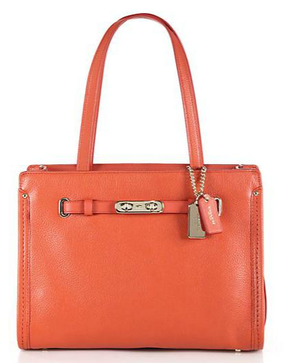 COACH Swagger Small Leather Tote @ Saks Fifth Avenue