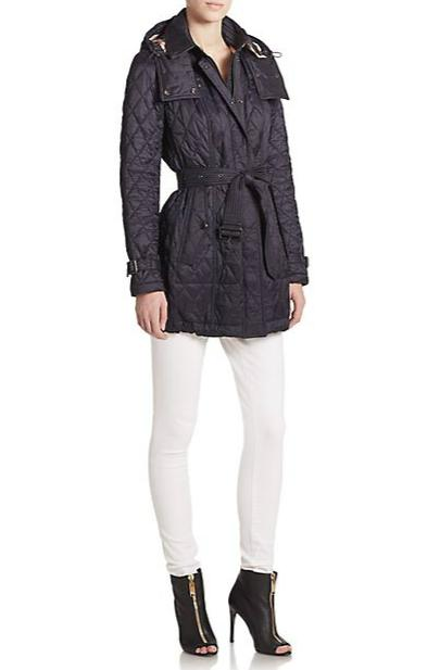 Burberry Brit Belted Quilted Jacket(size m-xl)