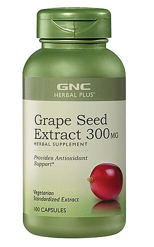 Dealmoon Exclusive!$9.99 GNC Herbal Plus Grape Seed Extract 300mg 100 Capsules