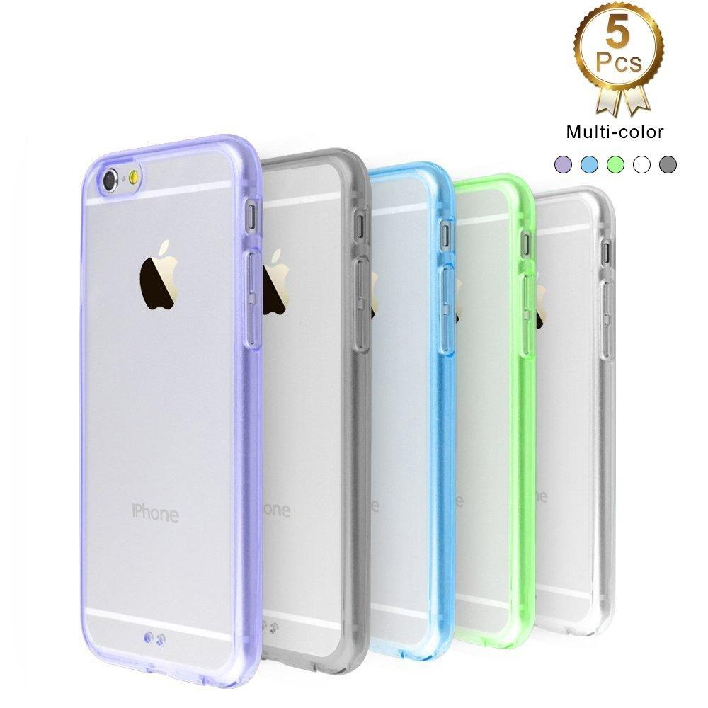 iPhone 6 / 6s 5 Pack Ace Teah Ultra Thin Slim Crystal Clear Back Panel