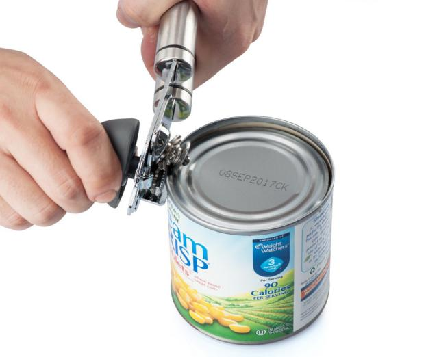 X-Chef Portable Manual Can Tin Opener Stainless Steel Smooth