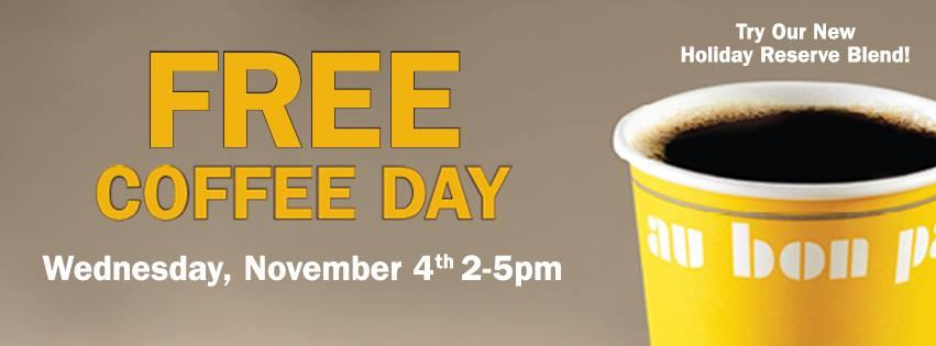Free Coffee Today (Wednesday 11/4) @ Au Bon PAin