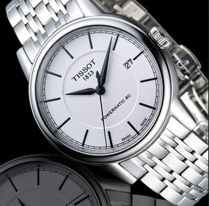 $405 Tissot Men's T Classic Swiss Automatic Silver Watch