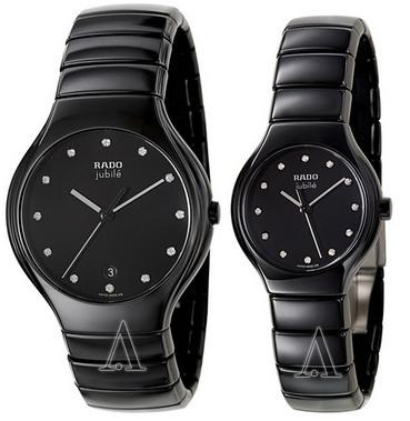 Dealmoon Exclusive! Rado R27653762 Men's or R27655762 Women's Rado True Jubile Watch