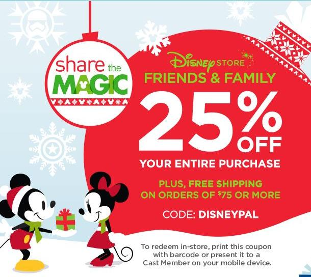 25% Off Your Entire Purchase Online @ Disney Store