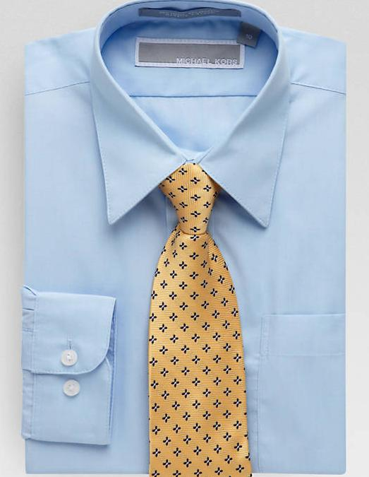 Michael Kors Boys Dress Shirt + Clip-on Tie @ Men's Wearhouse