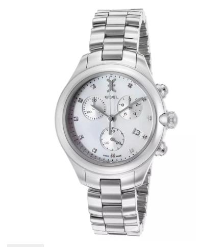 Ebel Women's Onde Diamonds Chronograph Stainless Steel White MOP Dial Watch 1216177