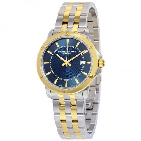 RAYMOND WEIL Tango Blue Dial Two-tone Men's Watch