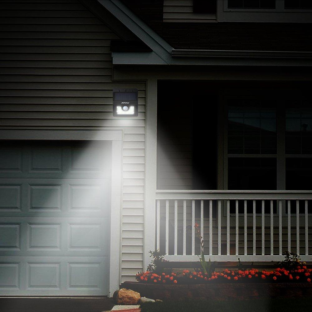 Mpow Super Bright 8 LED Solar Powered Wireless Security Light Weatherproof Outdoor Motion Sensor Lighting