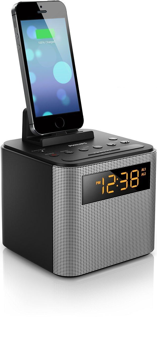 Philips AJT3300/37 Bluetooth Dual Alarm Clock Radio iPhone