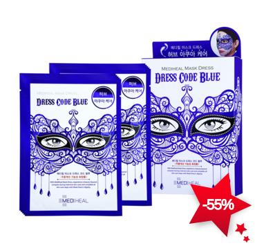 Mediheal Mask Dress Code Blue 1box, 10pcs On Sale @ COSME-DE.COM