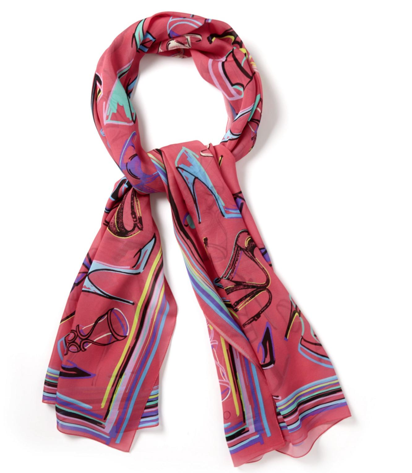 JIMMY CHOO Multi Stiletto 100% Silk Scarf On Sale @ Otte