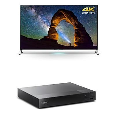 Sony XBR55X900C 55-Inch 4K Ultra HD TV with BDPS3500 Blu-ray Player
