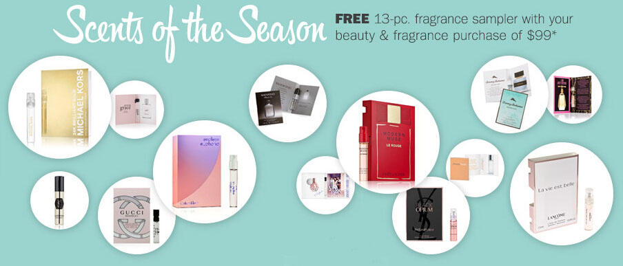 Free 13-pc. Fragrance Samples with $99 Beauty or Fragrance Purchase @ Bon-Ton
