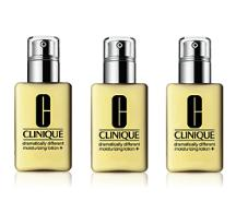 $78 Buy 3 Dramatically Different Moisturizing Lotion + Free 7 pcs Gift + Full Size Lip Palette @ Clinique