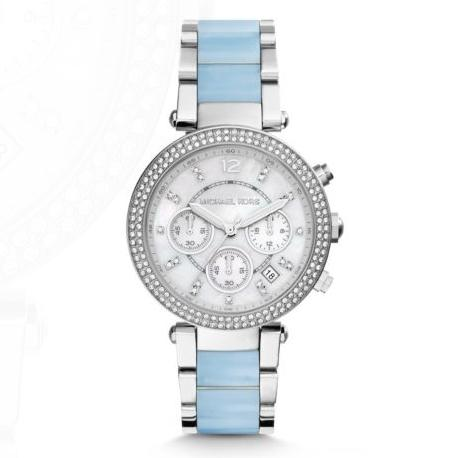 MICHAEL KORS  Parker Silver-Tone Acetate Watch @ Michael Kors