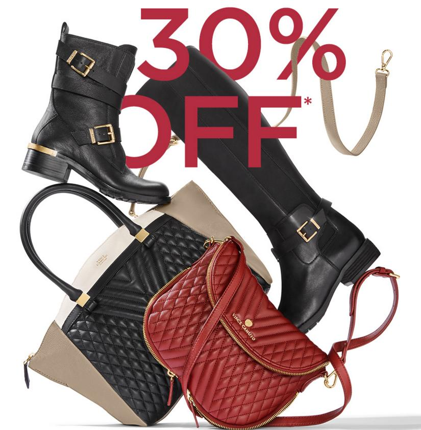 30% Off Boot and Bag Sale at Vince Camuto