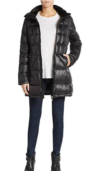 Calvin Klein Hooded Down Puffer Jacket @ Saks Off 5th