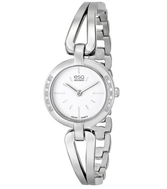 ESQ Movado Women's 07101395 Corbel Stainless Steel Diamond-Accent Watch