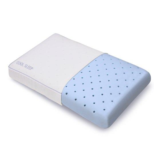 Classic Brands Cool Sleep Ventilated Gel Memory Foam Gusseted Pillow, Standard