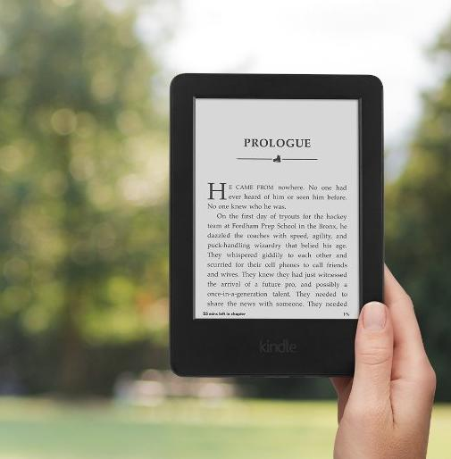 "$49.99 Kindle, 6"" Glare-Free Touchscreen Display, Wi-Fi - Includes Special Offers"