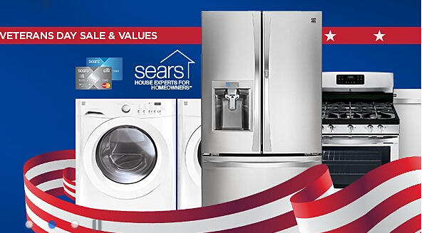 Up to 40% Off Veterans Day Sale @ Sears.com