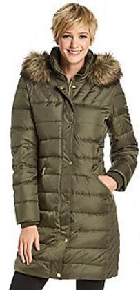 MICHAEL Michael Kors® Horizontal Quilting Down Coat