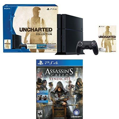 $349.99 500GB PlayStation 4 Console - Uncharted: The Nathan Drake Collection Bundle with Assassin's Creed Syndicate