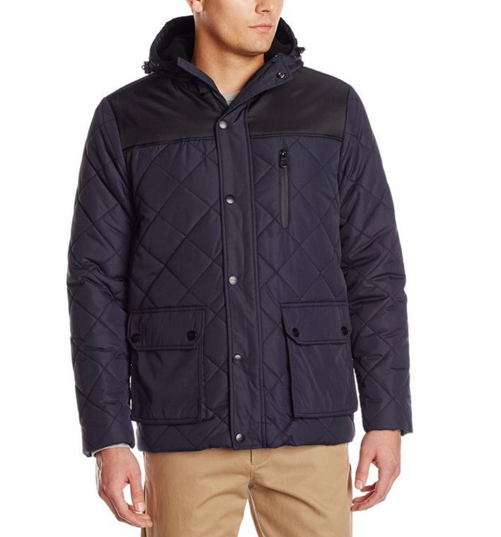 Deal of the Day IZOD Men's Diamond Puffer Jacket