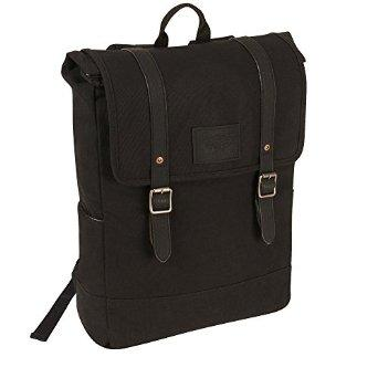 $27.99 Levi's Del Norte 17 Inch Backpack, Black/Black/Black, One Size