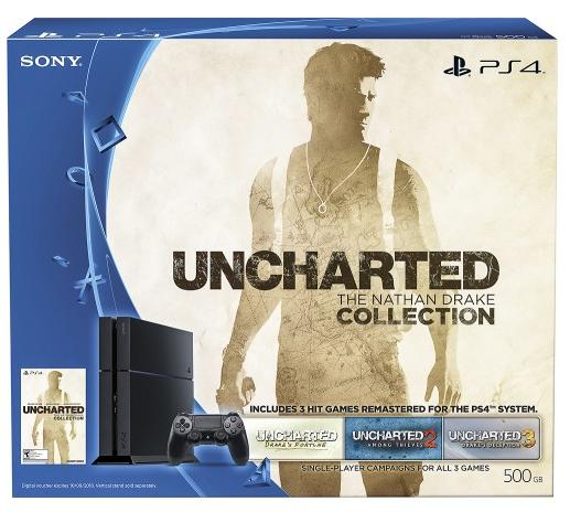 $299.99 Sony PlayStation 4 500GB Uncharted: The Nathan Drake Collection Bundle