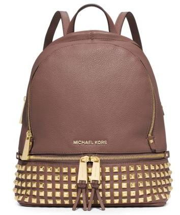 Rhea Small Studded Leather Backpack @ Michael Kors