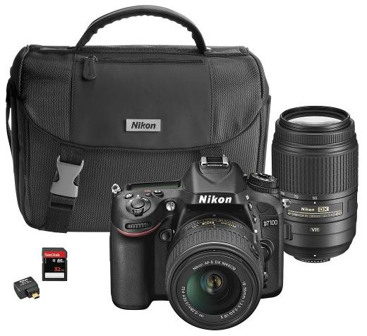 Nikon D7100 DSLR Camera with 18-55mm VR and 55-300mm VR Lenses Bundle